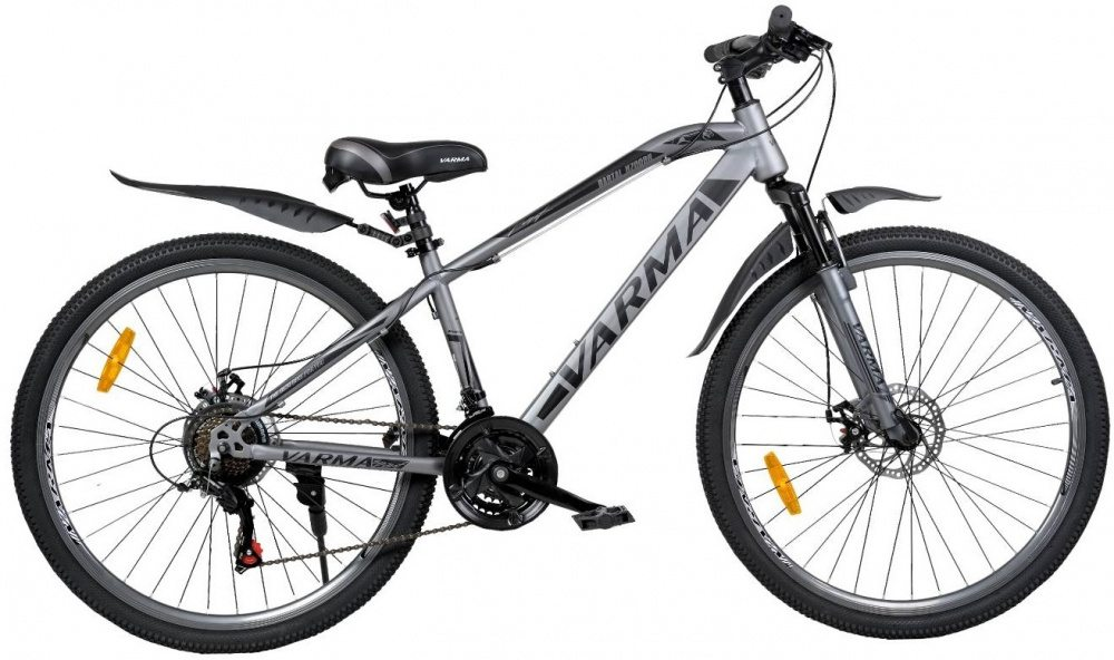 """Горный велосипед 27,5"""" VARMA BARTAL H700DR, серые покрышки 21 ск. ст."""