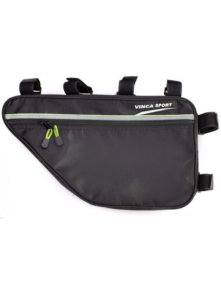 Сумка под раму, два кармана внутри сумки, два наружных кармана, светоотражающие ленты, 420*230*65мм,