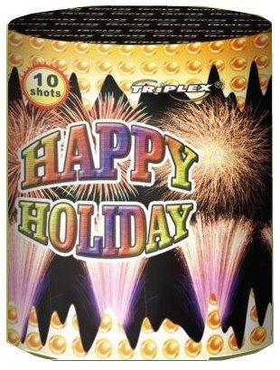 "10 зар. Батарея салютов  ""ECHO, HAPPY HOLIDAY "" ТХВ497 (12/1) 1,25"""