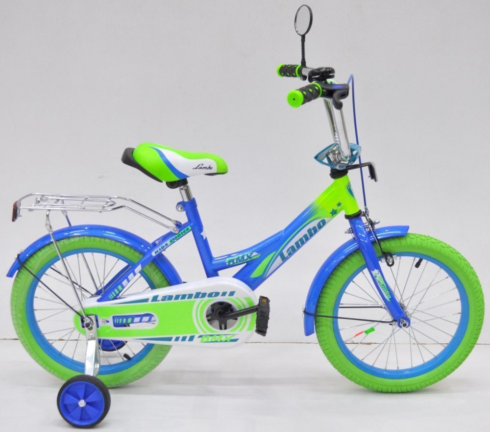 "Детский велосипед 16"" LAMBO салатовые покрышки"